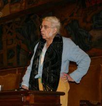 Charla de Agustín García Calvo en León (2008). © Fotografía de RGM.