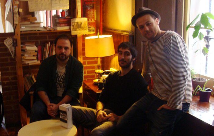 Ángel Martín, Nacho Laseca y Alfredo Noval, de la compañía Malalengua.