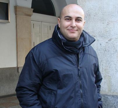 Jesús García (Pistolo), uno de los organizadores del ciclo. Foto: L. Fraile.