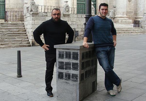 Jorge Consuegra y Álex García, integrantes del Colectivo Satélite. Foto: L.Fraile.