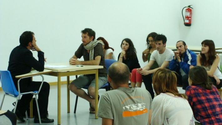 Curso de teatro foro que impartieron Laura Presa y Fernando Gallego en 2012. Foto: L. Fraile.