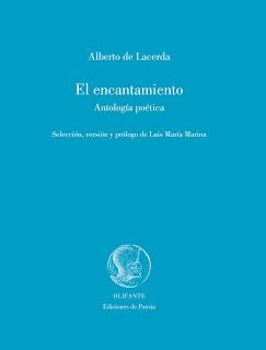 Portada de la antología 'El encantamiento', de Alberto de Lacerda (Ed. Olifante).