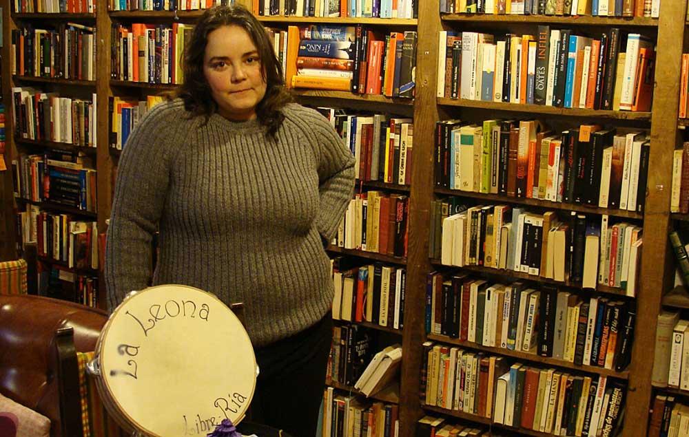 Cristina Pérez, propietaria de la librería La Leona. Fotografía de Laura Fraile.