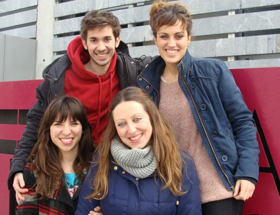 Noemí Morante, Alba Frechilla, María Negro y Juan Carlos Sanz, actores de la obra 'Sweet Home (Agamenón)'. Foto: L. Fraile.