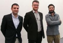 Pablo de la Cruz, Carlos Fernández-Peinado y Juan Melgar, integrantes del INAEM. Foto: L. Fraile.