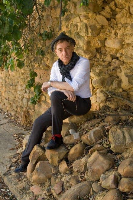 Juan Carlos Mestre, el pasado verano, en el pueblo de Nogarejas. Fotografía de Juan Rafael.