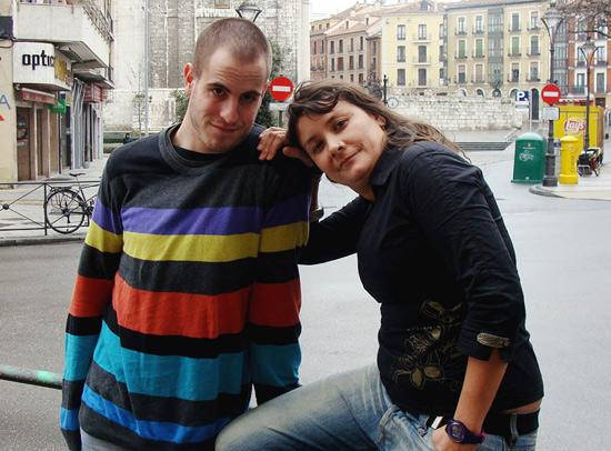 El dramaturgo y actor, Jorge Pascual Lobato, junto a la directora Aldana Herrera Möller. Foto: L. Fraile.