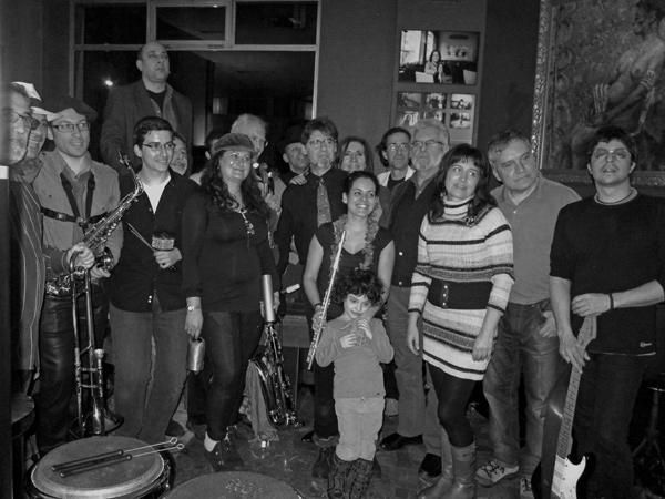 Los músicos en la sesión del jueves 7 de marzo. Foto: Abel Morán.