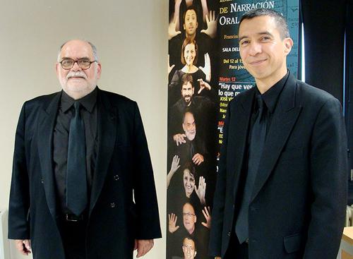Francisco Garzón Céspedes y José Víctor Martínez Gil, narradores orales escénicos. Foto: L. Fraile.