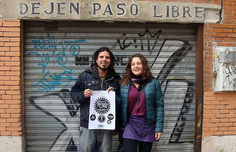 David Sánchez e Irene Conesa, integrantes del grupo Kousa. Foto: L. Fraile.