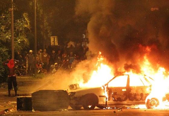 Disturbios en la isla de La Reunión. Fotografía: Imaz Press Reunion.