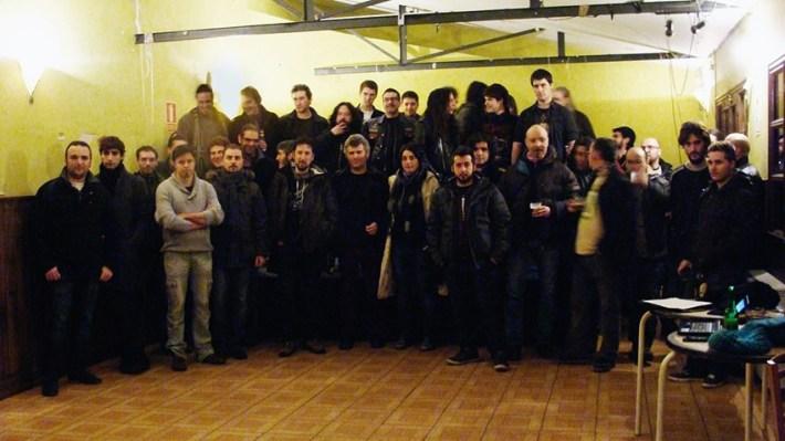 Músicos de Valladolid se han reunido para hacer frente común para defender la música en directo. Foto: L. Fraile.
