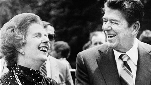Margaret Thatcher y Ronald Reagan. Photo: AP.