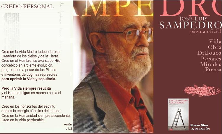 Haz un click y entra en la página personal de José Luis Sampedro.