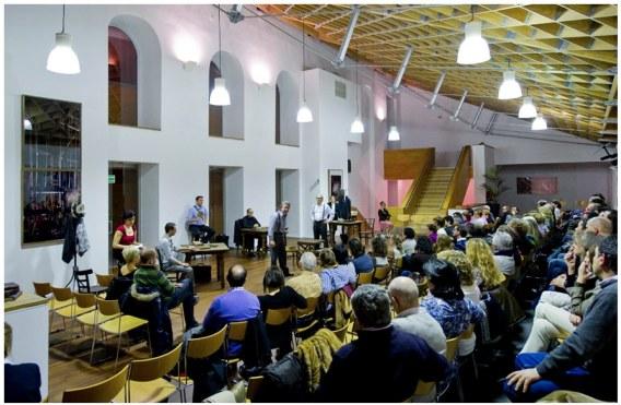 Un momento de la representación de 'El juicio de Dayton'. Foto: Marta Vidanes.