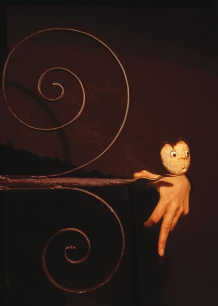 Compañía: Títeres de María Parrato. Cartel del espectáculo: No te asuste mi nombre. Foto: Chema Castelló.
