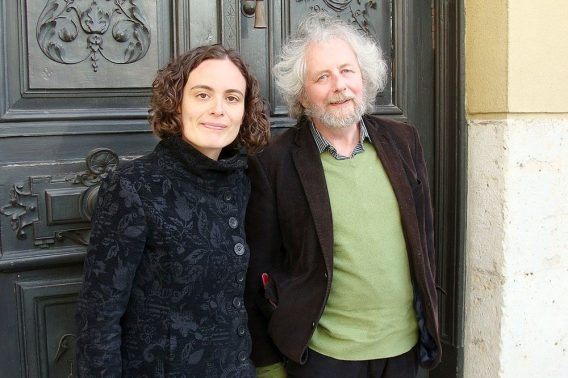 Herdolor Lorenz y Tania S. Martín, dos de los integrantes del proyecto. Foto: L. Fraile.