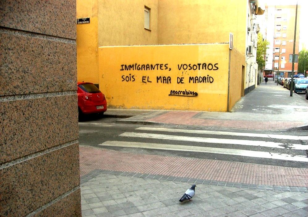 Graffiti del poeta Neorrabioso.