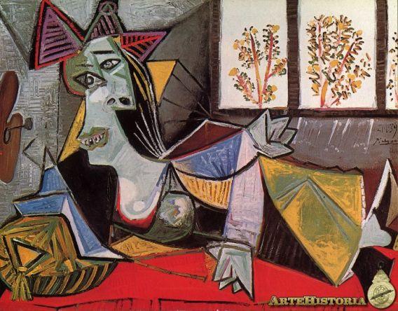 'Mujer tendida en un diván'. Pablo Picasso.