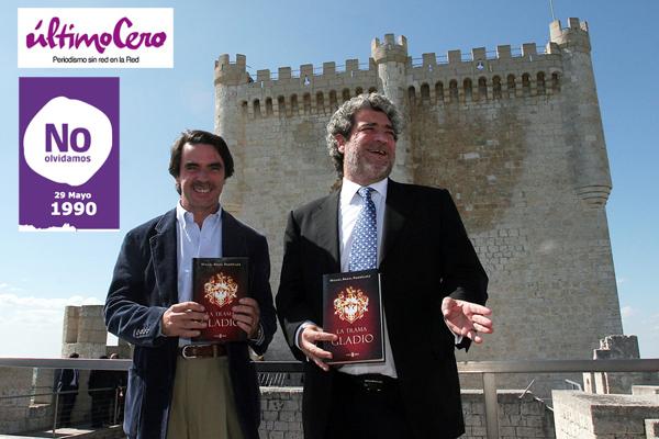 José María Aznar junto a Miguel Ángel Rodríguez en Peñafiel. Foto: Carlos Espeso.