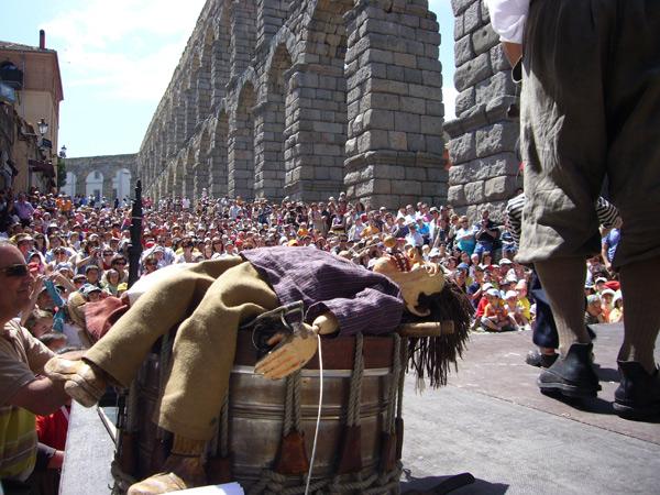 Una imagen del festival de títeres en Segovia. Foto: Titirimundi.