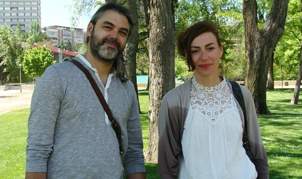 Félix Fradejas y Marta Ruiz de Viñaspre, integrantes de 'Ghetto 13-26'. Foto: L. Fraile.