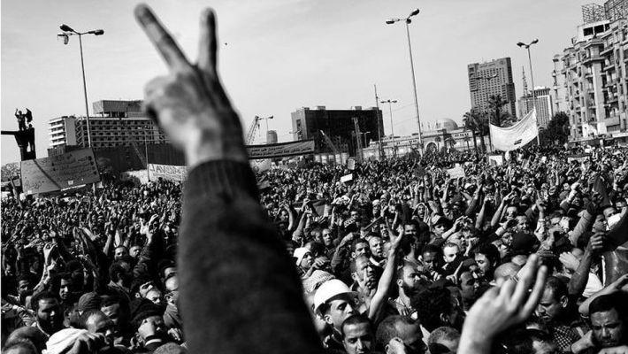 Revolución en Egipto (11-02-2012). Fotografía: Samuel Aranda.