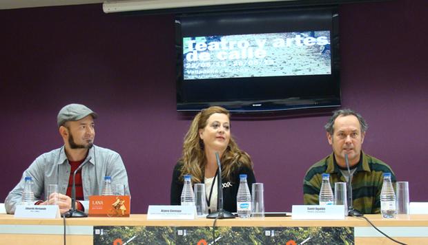 Eduardo Hernando, Aizpea Goenaga y Santi Ugalde. Foto: L. Fraile.