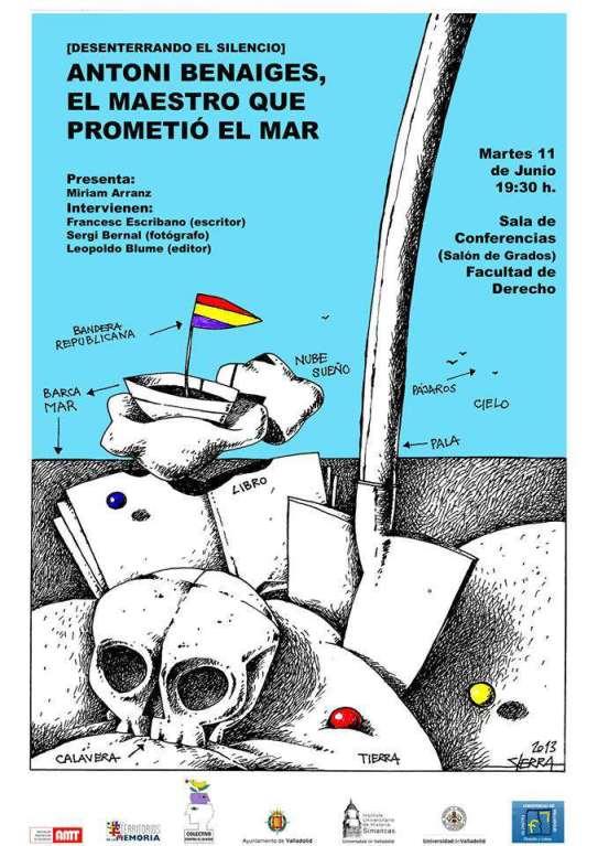 Cartel de Manuel Sierra para la presentación del libro.
