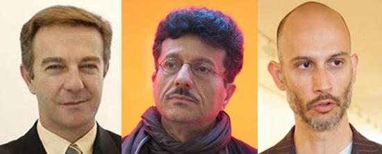 José Guirao, Octavio Zaya y Víctor del Río.