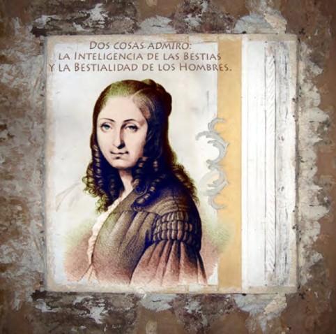 Flora Tristán. Pintura de Manuel Jular.