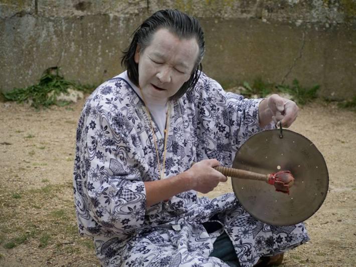 'Toposonia' en Peñafiel con Katsunori Nishimura. Fotos: Vicente García.