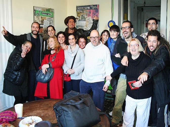 Integrantes de Radio Nikosia. Foto: Antonio Ortiz.