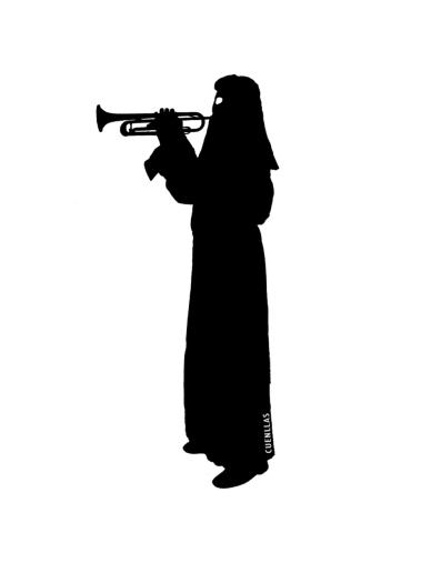 papon con trompeta