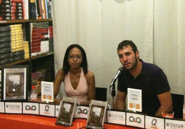 Aline Pereira da Encarnação y Víctor David López, directores de Ediciones Ambulantes. Foto: Antonio Serrano Cueto.