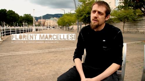 Florent Marcellesi, activista e investigador ecologista, entrevistado durante el documental.