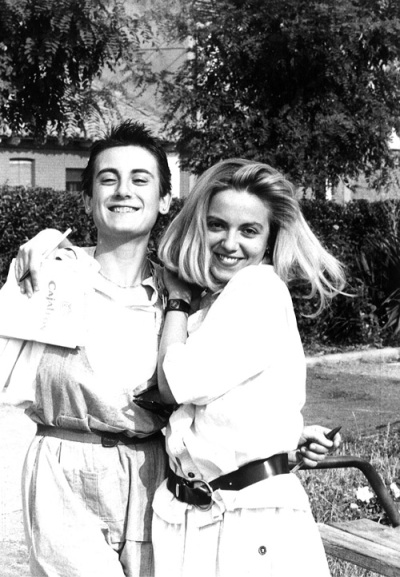Amparo Martínez y Ángela Domínguez en 1986. Foto: Andrés S. Vilorio.