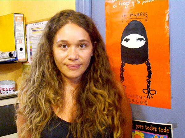 Laura Cela, trabajadora social e integrante de la Oficina de Derechos Sociales Baladrinas. Foto: Laura Fraile.