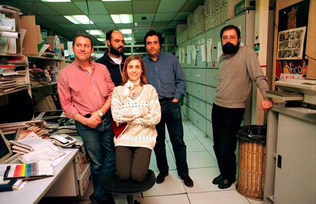La sección de Cultura, con Ana Ustáriz en el centro. Fotografía: Mauricio Peña.
