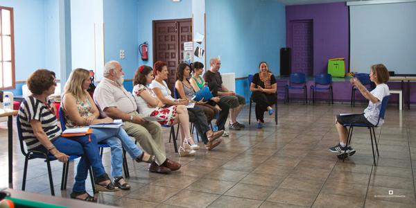 Curso de Análisis e Interpretación de Teatro Clásico, en Olmedo, coordinado por Esther Pérez Arribas. © Foto: Pío Baruque.