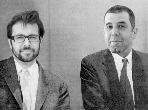 Carlos G. Torrico y Quino Romero, impulsores del Proyecto Genoma Poetico. Foto: Proyecto Genoma Poetico.
