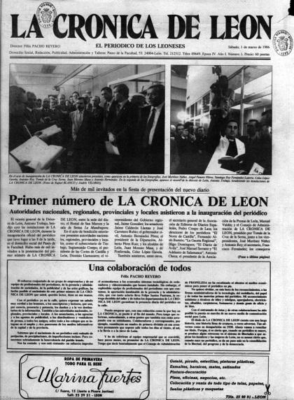 El primer número de La Crónica de León.