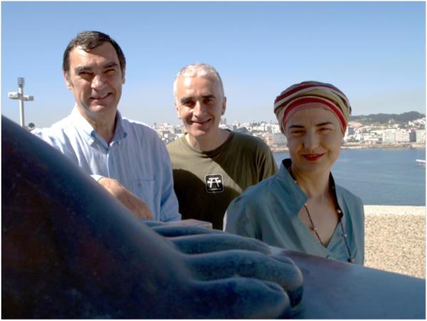 Fito Ares, Bernardo Martínez y Eva Veiga, integrantes del trío gallego Ouriol.