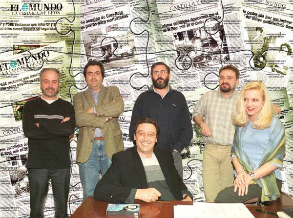 Mauri, Cachafeiro, Ful, Dani, Ángela y José Luis Estrada (en el centro). Fotografía: Mauricio Peña.