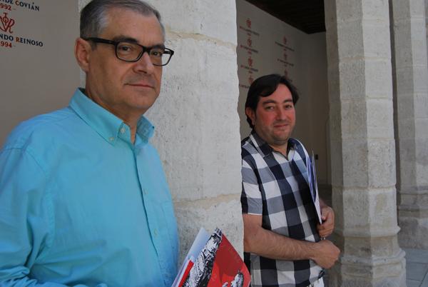 Germán Vega y Benjamín Sevilla, directores del Festival Olmedo Clásico. Fotografía: I. M.