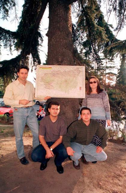 La sección de Comarcas: Juan Daniel, Carlos J. Domínguez, Antonia Reinares y J.J. Porras. Fotografía: Mauricio Peña.