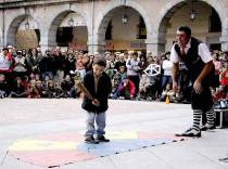 Una actuación en la anterior edición del Festival de Teatro de Calle y Artes Circenses.