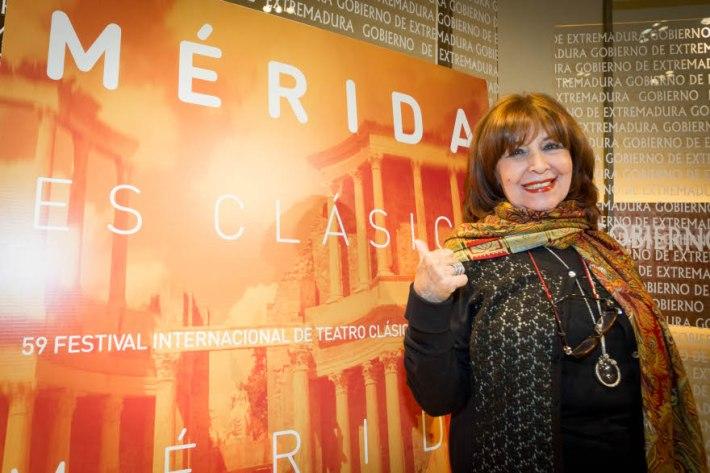 La actriz, Concha Velasco, durante la presentación de la 59 edicción del Festival. Fotografía: Jero Morales.