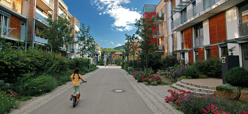 Barrio de Vauban, cerca de Friburgo, en Alemania. © Daniel Schoenen.