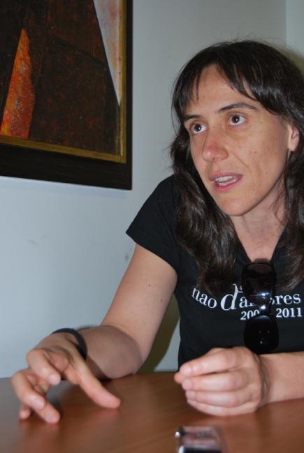 La directora de escena Ana Zamora. Fotografía: I. M.